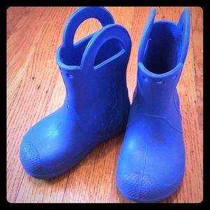 Blue Toddler Crocs Rainboots